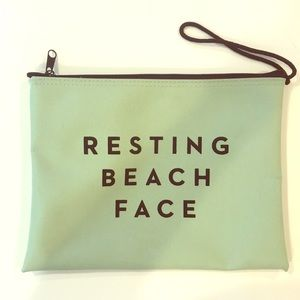 "Milly ""Resting Beach Face"" pouch/clutch"